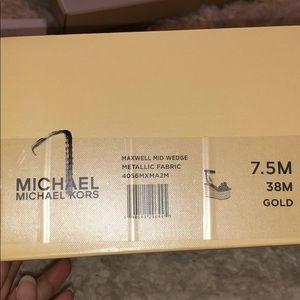 MICHAEL Michael Kors Shoes - Michael Kors Gold Maxwell Mid Platform SIZE 7.5